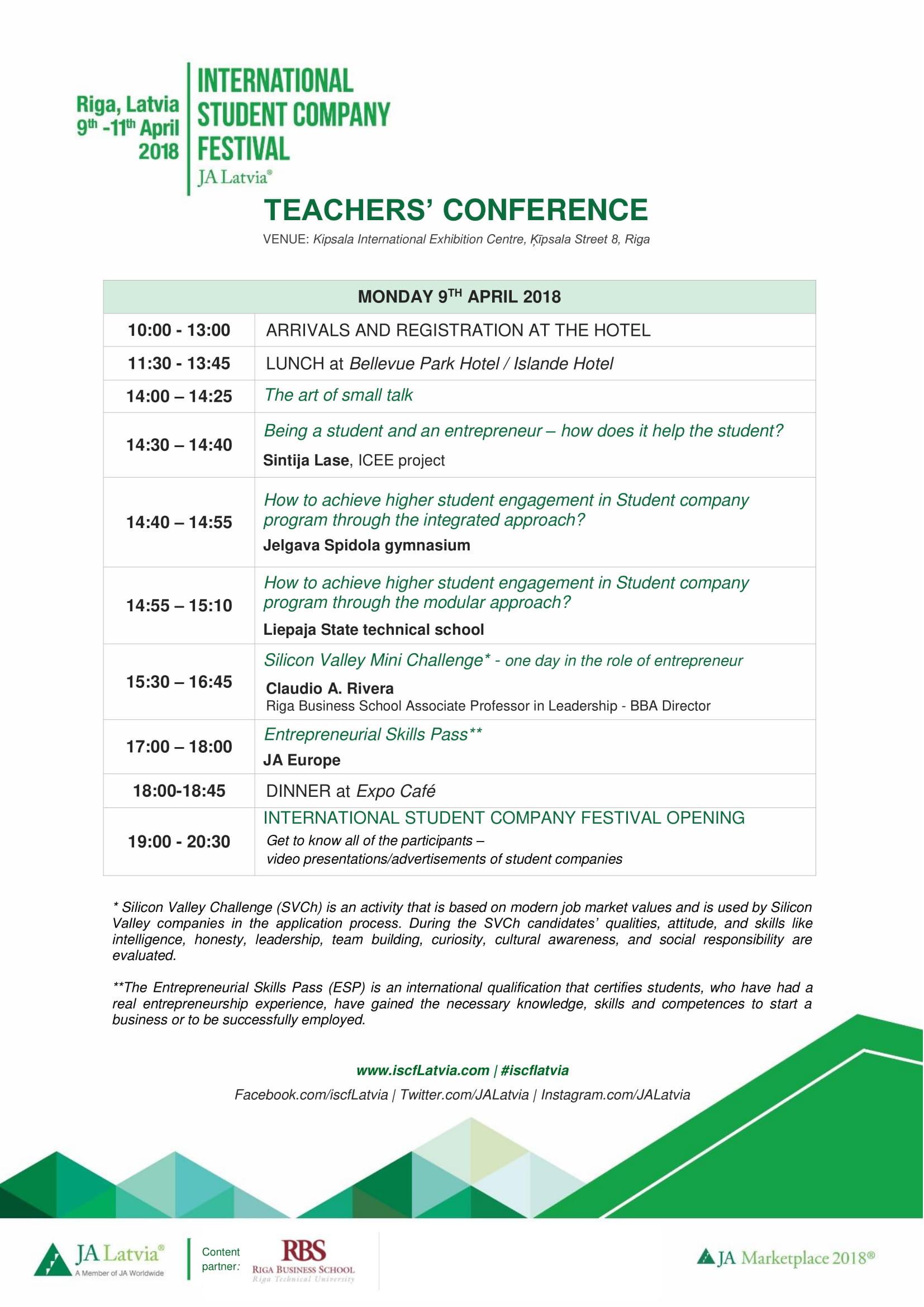 Conference agenda / News / iscflatvia